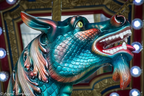 A dragon on the carousel.