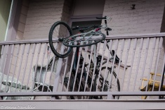 This is one way to store a bike!