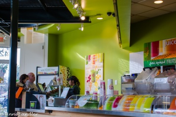 We had lunch at Jamba Juice before walking over to the Tower Theater.