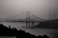 The bridge and boat were totally encased in fog/haze. Lightroom's dehaze did a pretty good job of removing most of it.