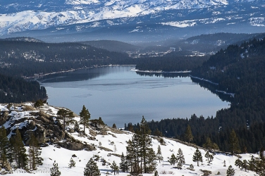 Donner Lake as seen from almost to the summit.