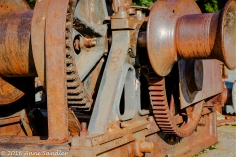 In the old machinery bone yard. Close ups.