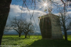 And, do a sunburst over this old shed.