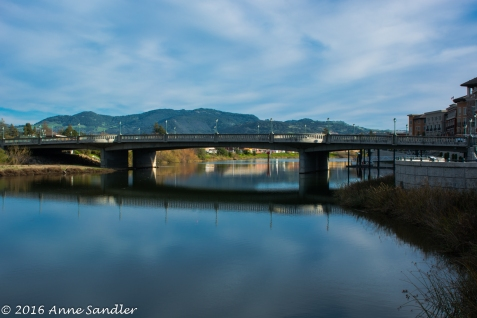 One of the three bridges in Napa.