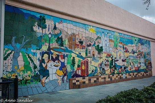 A tiled mural.