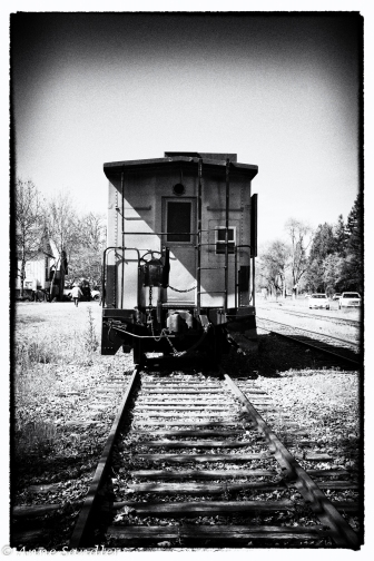 The train advertising the wine train tour. I edited this in the Nik Silver Efex software.