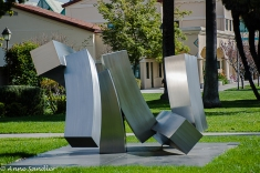 One of the many sculptures on campus.