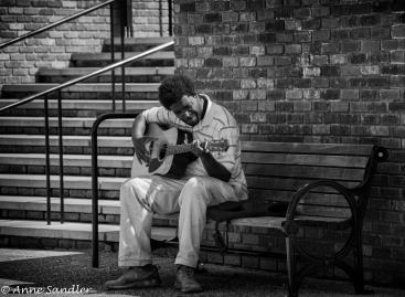 A musician. Edited in Nik Silver Efex.