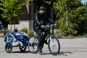 A bike rider.
