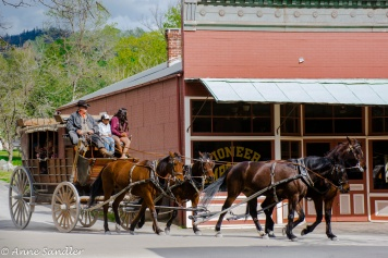 The stagecoach ride in Columbia State Historic Park.