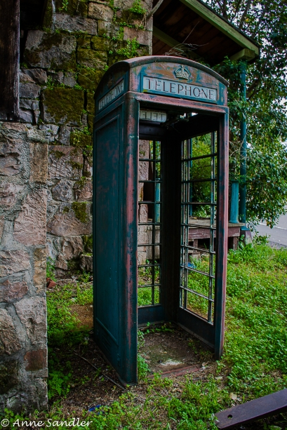 I was told this old phone booth was transplanted from England.
