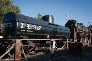 One of the trains running during the weekends and holidays in Old Sacramento.