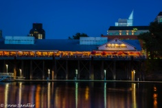 Restaurants and wharf in Old Sacramento.