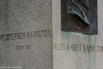 Some of the history: The son of Alexander Hamilton is buried here.