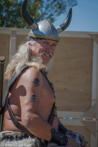 He looks more like a viking than a pirate.