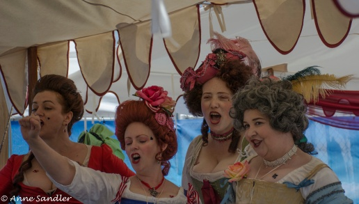 A group of ladies in song.