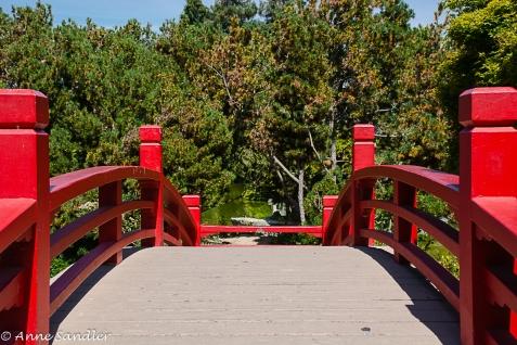 Red bridge.