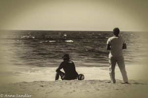 Just enjoying the beach. I tried sepia tone with this one.