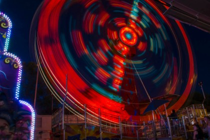 Another ride shot at a slow shutter speed.