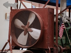 A fan in the front of the tractor.