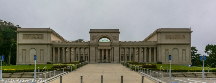 Outside the Legion Of Honor Museum. Shot from the parking lot.