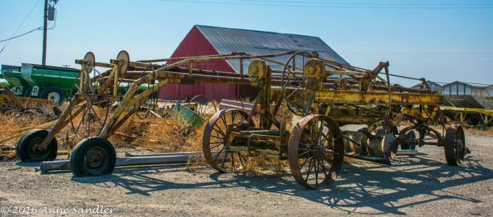 Old farming equipment.