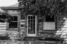 Here's the old abandoned farm house. I chose to process this in black and whit.