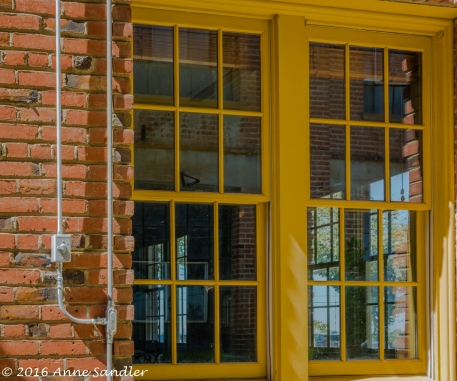 You could see through these yellow framed windows. Yes, color attracts my eye.