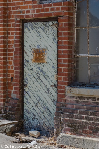 A door in one of the older buildings.