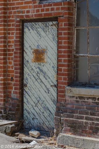 A door in one of the older buildings.