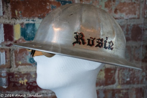 The safety hat workers wore.