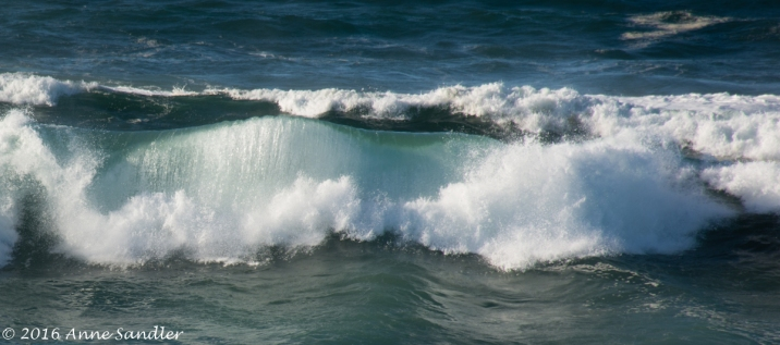 I enjoyed shooting the waves.
