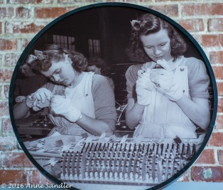 This pictures shows two Rosies at work.