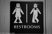 The restroom sign at the bakery. Sorry, I just couldn't resist.