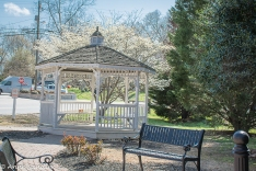 A gazebo on one end of town.