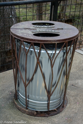To the matching trash can enclosures,