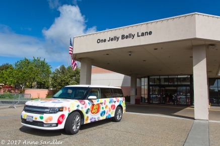 The Jelly Belly Factory entrance.