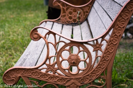 An old ornate bench.