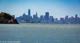 Looking across the bay at San Francisco.