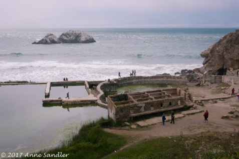 The remnants of the Sutro Baths.