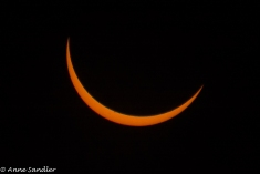 I would then be able to shoot the sun as it moved behind the moon.