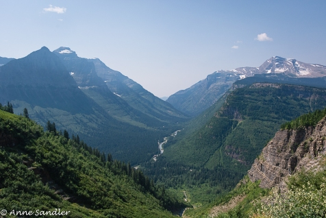 Scenes like this are abundant. Mountains and valleys and small rivers.