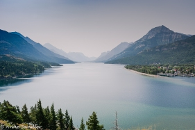 Looking down Upper Waterton Lake. Again from the Prince of Wales Hotel.