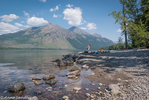 On the shore of Lake McDonald.