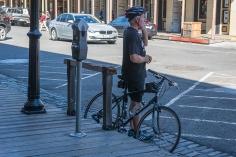 biker and older person