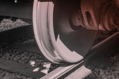 Railroad track.
