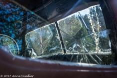 Looking through broken glass at more broken glass!