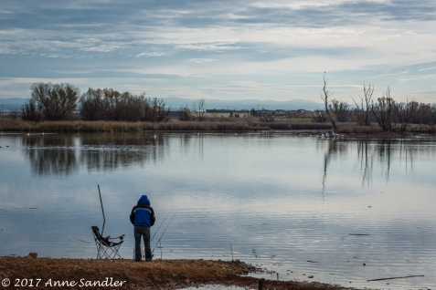 Mather Lake Fisherman