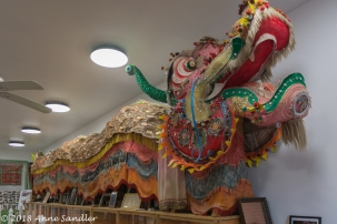 This dragon has led many parades. The original dragon, Mulan, was retired and now resides in a closet.
