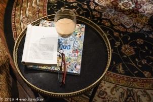 Taking a break from reading.